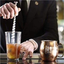 Cocktail being made